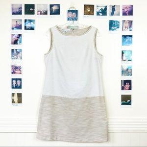 Mangy London Sheath Dress Color-block Cotton Zip